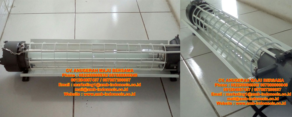 Lampu TL Led Explosion Proof 1x18w 1x36w 1x58w 2x18w 2x36w 2x58w QINSUN BLD140 LED Ex-Proof Flourescent Lamp Jakarta Indonesia