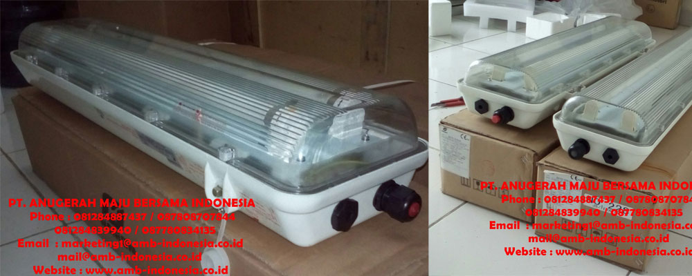 Lampu TL GRP Explosion Proof - Fluorescent Lamp GRP Warom Explosion Proof - HRLM BYS Fluorescent Lamp Explosion Proof Jakarta Indonesia
