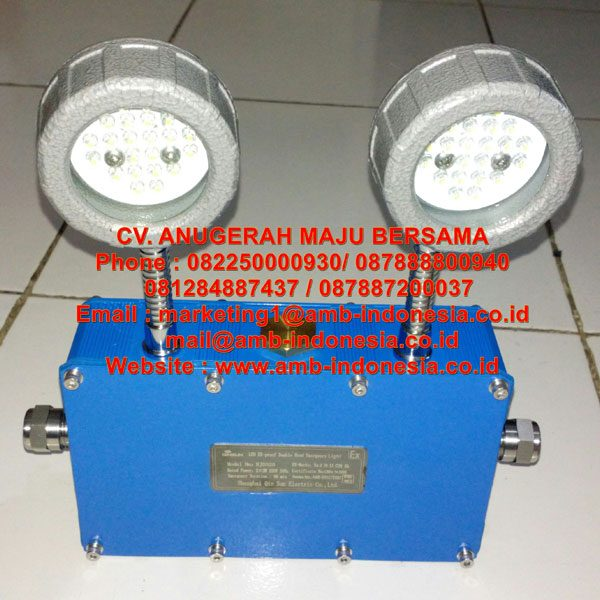 Lampu Led Emergency Mata Kucing Explosion Proof 2x3w QINSUN BJD320 Emergency Double Head Lighting Jakarta Indonesia
