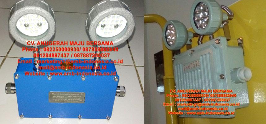 Lampu Led Emergency Mata Kucing Explosion Proof 2x3w QINSUN BJD320 Emergency Double Head Lighting Jakarta Indonesia