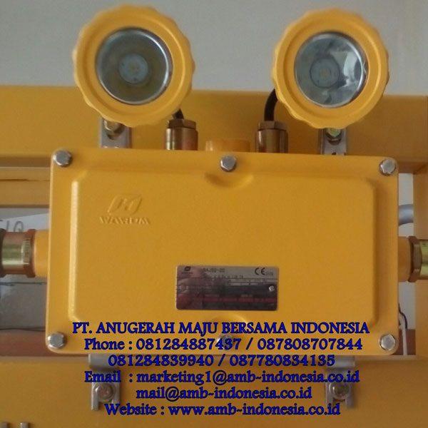 Lampu Emergency Mata Kucing Explosion Proof Warom BAJ52-20 Ex-Proof Emergency Double Head Jakarta Indonesia