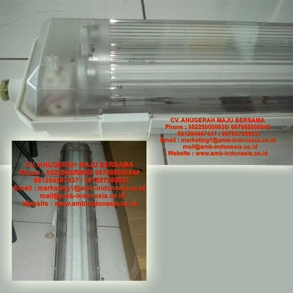 Lampu TL Explosion Proof GRP Polyester HRLM BYS Series Fluoirescent Lamp